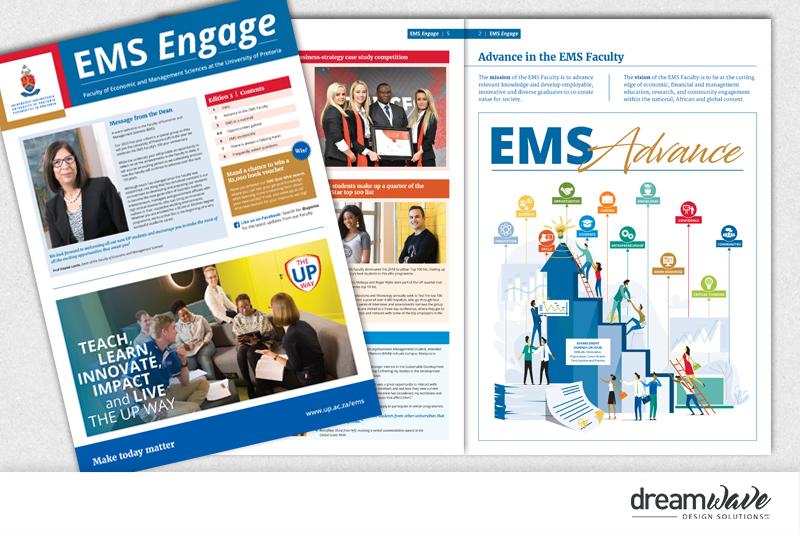 University Of Pretoria Ems Engage Newsletter Dreamwave Design